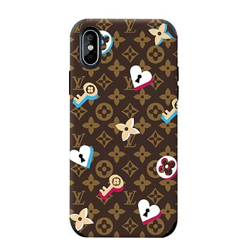 LV & Supreme Tide brand color matching men and women all-inclusive anti-drop iphone7plus phone case #3