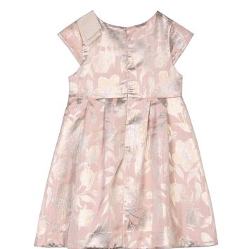 MiMiSol - Baby Girls Pink Taffeta Dress