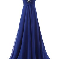 Erosebridal Women's Long Formal Evening Dress Strapless Prom Party Gown Royal Blue Size 24W