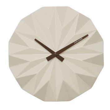Karlsson Origami Wall Clock White