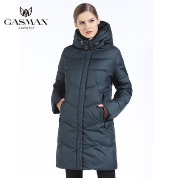 GASMAN Women Winter Jacket Down Long Female Winter Thick Coat For Women Hooded Down Parka Warm Clothes Plus Size 7XL 6XL