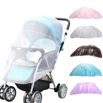 1Pc 150cm Summer Baby Stroller Mosquito Net Netting Cover Accessories infant Pushchair helper