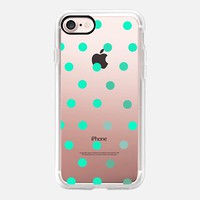 minty dots iPhone 7 Carcasa by Marianna | Casetify