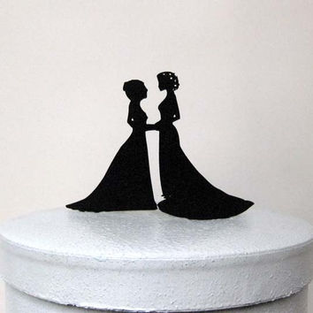 Wedding Cake Topper - same sex wedding, gay wedding, lesbian wedding