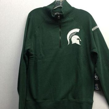DCCKG8Q NCAA Michigan State Spartans Quarter Zip Pullover