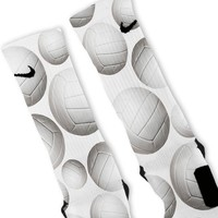 All Over Volleyballs Custom Nike Elite Socks