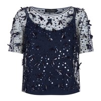 Jenny Packham Embellished Tulle Top | Harrods.com