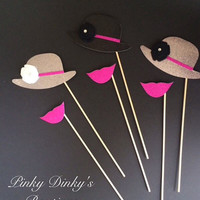 Set of 6 Photo Booth Props / Wedding Photo Props / Props on Sticks / Mustaches on Sticks / Lips on Sticks