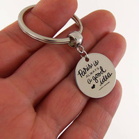 Paris is always a good idea quote keychain, paris key chain, audrey hepburn quote, audrey hepburn quotes, audrey hepburn keychain