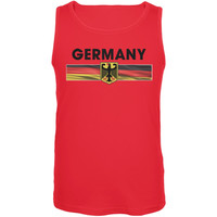 World Cup Germany Eagle Crest Red Soccer Tank Top