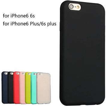 Super Soft Clear TPU matte Case Cover For Iphone 6 6s 6 6s plus Slim Crystal Back Protect Skin Fundas Silicone Coque 7 7 plus