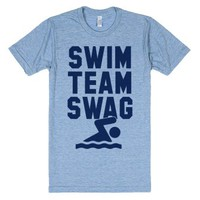 Swim Team Swag-Unisex Athletic Blue T-Shirt
