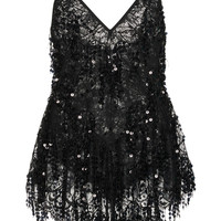 Embellished Lace Mini Dress | Moda Operandi