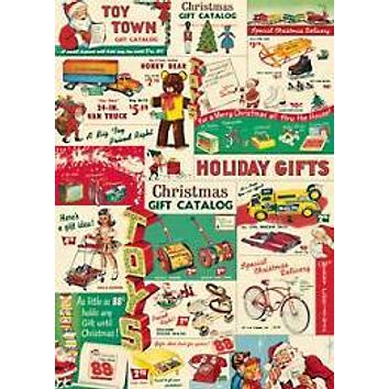 "Holiday Vintage Toy Catalog 20""x28"" Sheet"