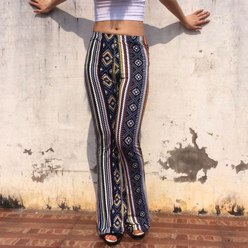 European American Fashion High Waist Palazzo