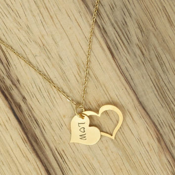 initial necklace  gold initial charm heart initial charm bridesmaid gift girlfriend gift for bride sweet 16 gift bat mitzvah gift for her