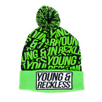 Young and Reckless Caution Beanie