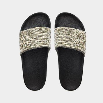 Crystal Slide Sandal Slippers