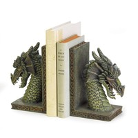 Fierce Dragon Home Decor Bookends