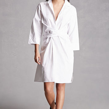 Crisscross-Front Shirt Dress