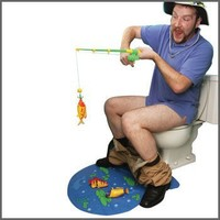 Gone Fishing Rod Hook and Line Toilet Game