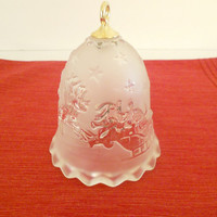 Glass Christmas Bell Mikasa Silent Night