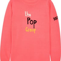 Bella Freud - The Pop Group intarsia merino wool sweater