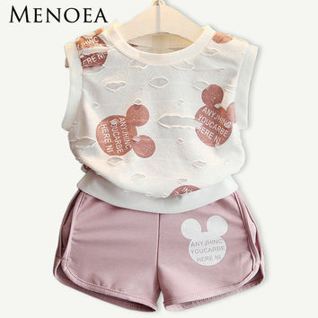 Summer Style Girls Clothing Set (T-shirt+Short )