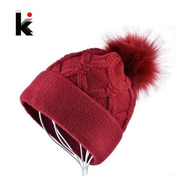 ESBU3C Female Beanie Women Winter Caps Miss Bonnet Girl Ski Cap Woman Knitted Hat Ladies Hats Pure Color Gorra Plaid Casquette Beanies