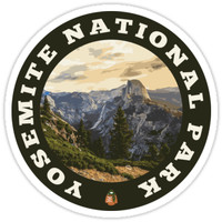 'Yosemite National Park circle' Sticker by Nyle Buss