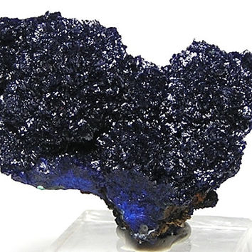 Deep Blue Sparkling Azurite Crystalline Mineral Specimen from Morenci Copper Mine Arizona Dazzling