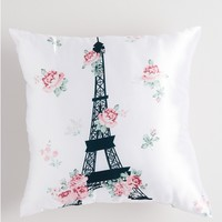 Floral Eiffel Tower Pillow
