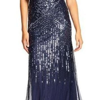 Adrianna Papell Formal Long Prom Dress Evening Gown