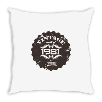 vintage made of 1981 all original parts Throw Pillow