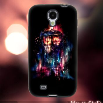MC42Z,2,Tardis,Doctor Who,Color,Nebula,Galaxy -Accessories case cellphone- Design for Samsung Galaxy S5 - Black case - Material Soft Rubber