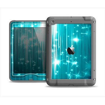 The Bright Blue Glistening Streaks Apple iPad Mini LifeProof Nuud Case Skin Set