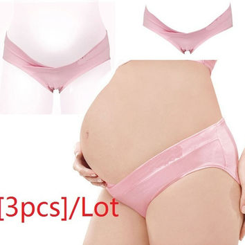 6Color Pregnancy Maternity Pregnant Women Underwear Panties Low-Waist Briefs U-shaped Size L XL XXL  3pcs/Lot = 1946121156