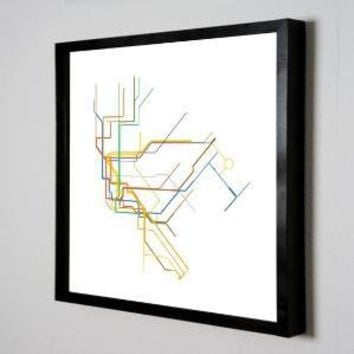 Massimo Vignelli's 1972 New York City Subway Map  by dualhabit