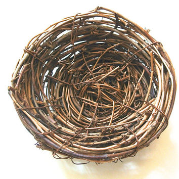 "4 Grapevine Nests- 4"" Grapevine Nests, Outdoor Decor, DIY Natural Ornament, Rustic Wedding, Easter Decoration"