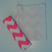 Pink Chevron Car Seat Strap Covers