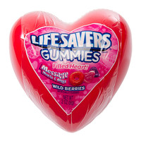 Life Savers Gummies Candy Filled Plastic Hearts: 12-Piece Display