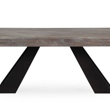 Westwood Elm Industrial Dining Table