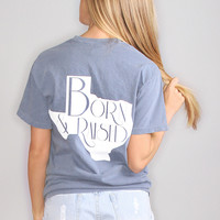 charlie southern: born & raised tee - Texas [blue]