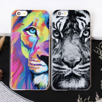 Creative Cool Tigers & Lions Iphone 7  7 plus 6 6s plus 5 5s se Ipohne Cover Case  Best Gift 005