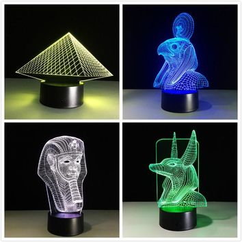 Egypt Themed 3D Illusion Wireframe Lights (4 Styles)
