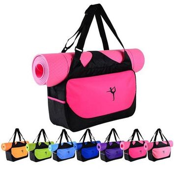 Brand New Yoga Mat Bag Waterproof Backpack Shoulder Messenger Sport Bag For Women Fitness Duffel Clothes Gym Bag