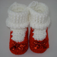 Dorothy's Wizard of Oz Red Ruby Slippers Shoes for Baby 6-9 Months size