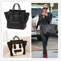 Hot sale ! High quality famous brand Women Smiley Bags Genuine Leather Shoulder Messenger C handbag Phantom Tote Line handbag-in Crossbody Bags from Luggage & Bags on Aliexpress.com   Alibaba Group