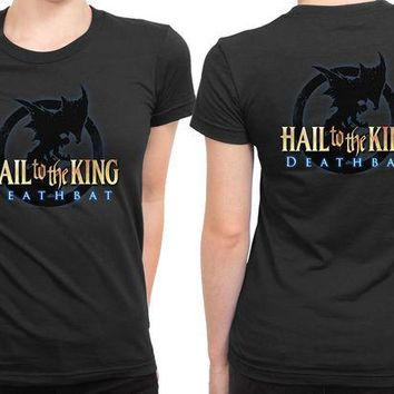 DCCK7H3 Avenged Sevenfold Hail To The King Logo 2 Sided Womens T Shirt