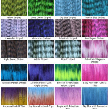 Rainbow Hair Extensions - Prebonded I-Tip - Pack of 10 - You Choose Colors
